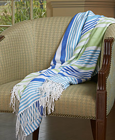 "Berkshire Tropical Stripe 50"" x 70"" Throw"