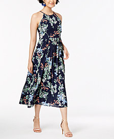 Maison Jules Floral-Print Halter Dress, Created from Macy's