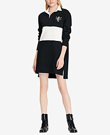 Polo Ralph Lauren Embroidered Cotton Rugby Shirtdress