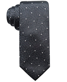 Alfani Men's Abstract Geometric & Dot Slim Silk Tie, Created for Macy's