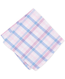 Bar III Men's Whitehaven Plaid Pocket Square, Created for Macy's