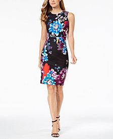 Calvin Klein Floral-Print Sheath Dress