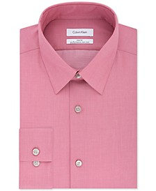 Men's Slim-Fit Non-Iron Performance Herringbone Point Collar Dress Shirt