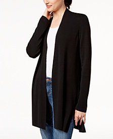 Eileen Fisher Wool Open-Front Cardigan