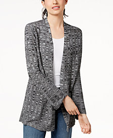 Eileen Fisher Silk Blend Open-Front Cardigan