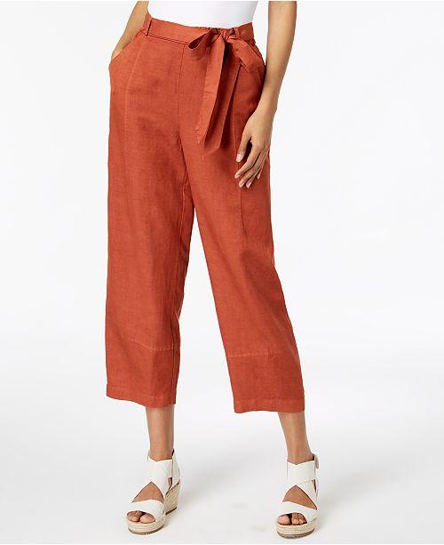 Linen Pekoe Tie Tencel® Ankle Fisher Pants Waist Eileen Deep wqt5Ex88