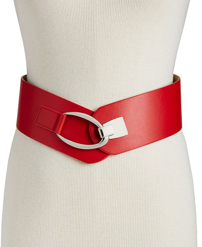 INC International Concepts INC Interlocking-Hook Stretch Belt, Created for Macy's