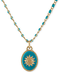 "RACHEL Rachel Roy Gold-Tone Sun Beaded Pendant Necklace, 16"" + 2"" extender"