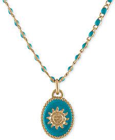 "RACHEL Rachel Roy Gold-Tone Sun Beaded Pendant Necklace, 16"" + 2"" extender"