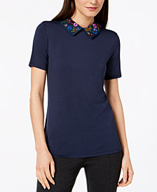 Weekend Max Mara Tresa Embellished Collar Top