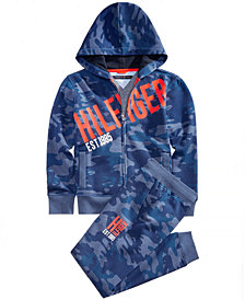 Tommy Hilfiger Big Boys Camo-Print Hoodie & Sweatpants Separates