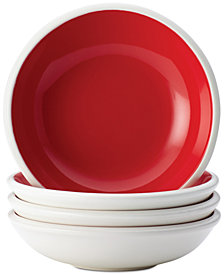 Rachael Ray Rise Red Set of 4 Fruit Bowl Sets