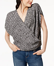 Eileen Fisher Silk Blend Surplice Sweater, Regular & Petite