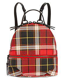 Steve Madden Val Plaid Backpack