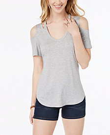 Ultra Flirt By Ikeddi Juniors' Cold-Shoulder Top