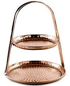 Home Essentials Copper-Tone Serving Stand
