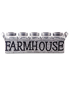 Home Essentials Farmhouse Mason Jars & Galvanized Caddy 6-Pc. Tablescape