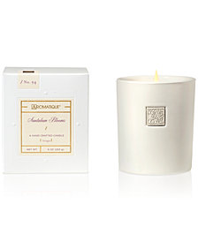 Aromatique Santalum Blooms White Ceramic Boxed 9-oz. Candle