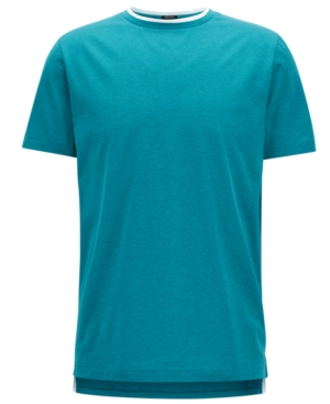 Boss Men's Double-Collar Mercerised Cotton T-Shirt