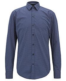 BOSS Men's Sharp-Fit Cotton Shirt
