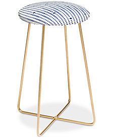 Deny Designs Emanuela Carratoni Japandi Style Counter Stool