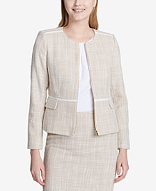 Calvin Klein Tweed Blazer, Regular & Petite