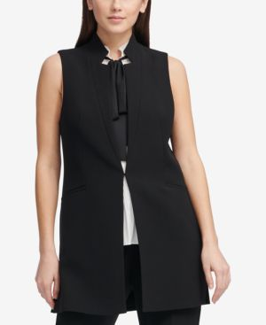 COLLARLESS VEST, CREATED FOR MACY'S