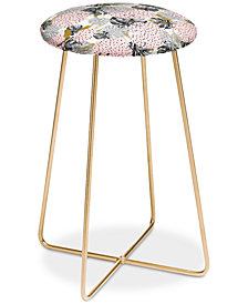 Deny Designs Marta Barragan Camarasa Monstera Patterns Counter Stool