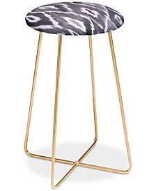 Deny Designs Natalie Baca Painterly Ikat in Black Counter Stool