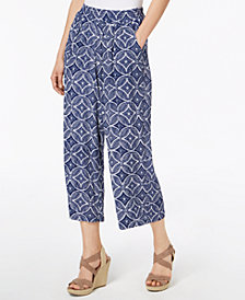 John Paul Richard Petite Printed Pull-On Soft Pants