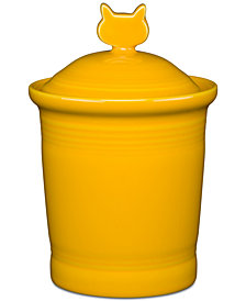 Fiesta Daffodil Cat Treat Jar