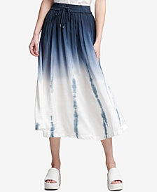 DKNY Pull-On Tie-Dyed Skirt, Created for Macy's