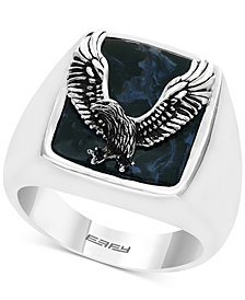 EFFY® Men's Pietersite Eagle Ring in Sterling Silver