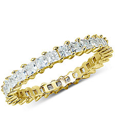 Giani Bernini Cubic Zirconia Stackable Princess Eternity Band, Created for Macy's
