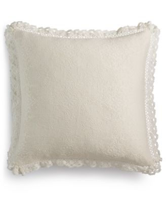 """Harlow Handcrafted Matelassé 20"""" Square Decorative Pillow, Created for Macy's"""