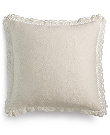 "Lacourte Harlow Handcrafted Matelassé 20"" Square Decorative Pillow, Created for Macy's"