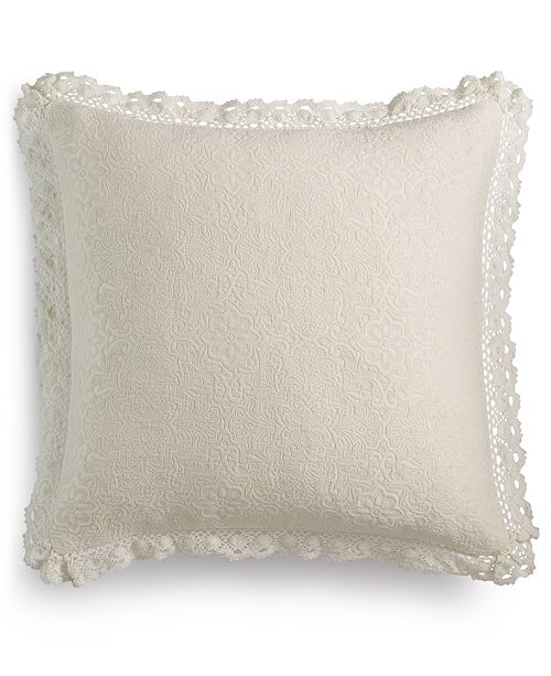 """Lacourte Harlow Handcrafted Matelassé 20"""" Square Decorative Pillow, Created for Macy's"""