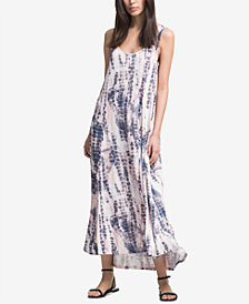 DKNY Printed Sleeveless Maxi Dress