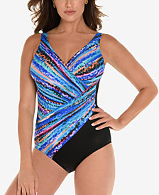Miraclesuit Animal Spectrum Printed Twist-Front Allover Slimming One-Piece Swimsuit