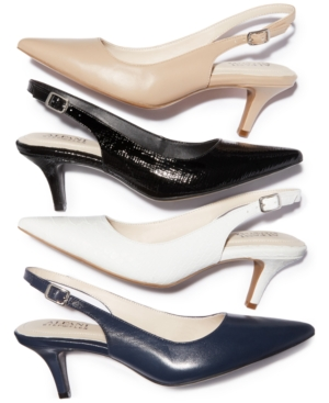 Alfani Women's Step 'N Flex Babbsy Pointed-Toe Slingback Pumps, Created for Macy's Women's Shoes