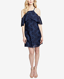 RACHEL Rachel Roy Cold-Shoulder Lace Swing Dress