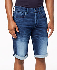 "G-Star Raw Men's 3301 11"" Inseam Denim Stretch Shorts, Created for Macy's"