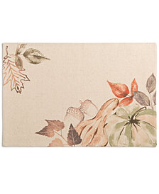 "CLOSEOUT! Elrene Decorative Gourds 13"" x 19"" Placemat"