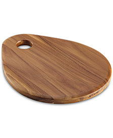 "Anolon Pantryware Teak Wood 12.5"" x 10"" Cutting Board"