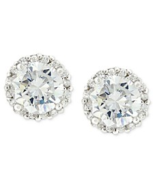 Pavé Cubic Zirconia Stud Earrings (1-3/4 ct. t.w.) in Sterling Silver, Created for Macy's