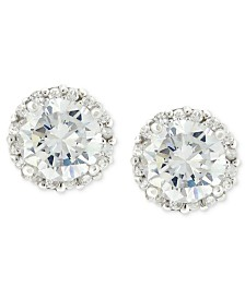 Giani Bernini Pavé Cubic Zirconia Stud Earrings (1-3/4 ct. t.w.) in Sterling Silver, Created for Macy's