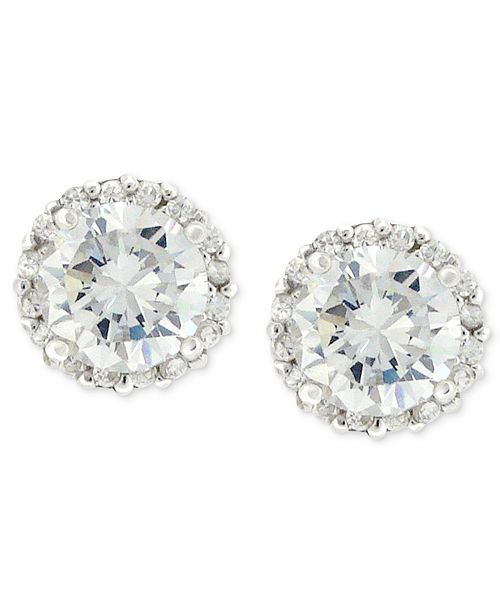 6e52fde1a Giani Bernini Pavé Cubic Zirconia Stud Earrings (1-3/4 ct. t.w.) in ...