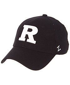 Zephyr Rutgers Scarlet Knights Black/White Stretch Cap