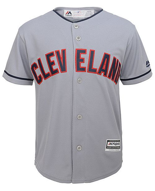 c0b7b7c25 Majestic Francisco Lindor Cleveland Indians Player Replica CB Jersey ...