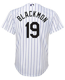 Majestic Charlie Blackmon Colorado Rockies Player Replica Cool Base Jersey, Big Boys (8-20)